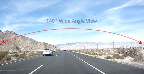140˚ Wide Angle View